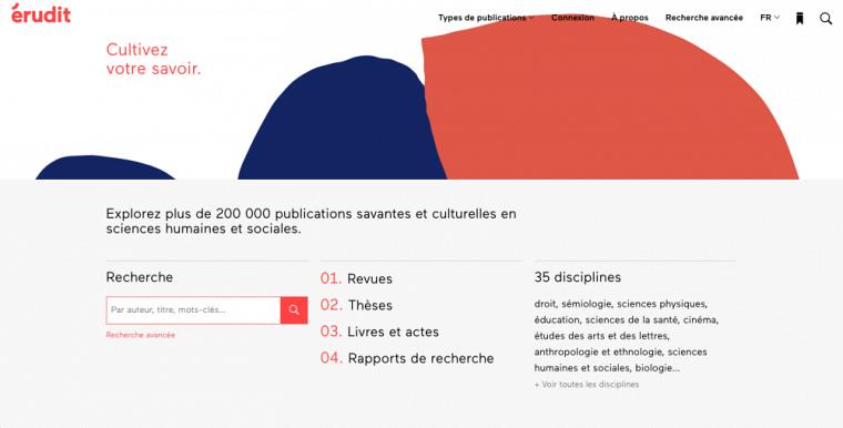 Érudit assure la diffusion numérique de plus de 150 revues savantes et culturelles.