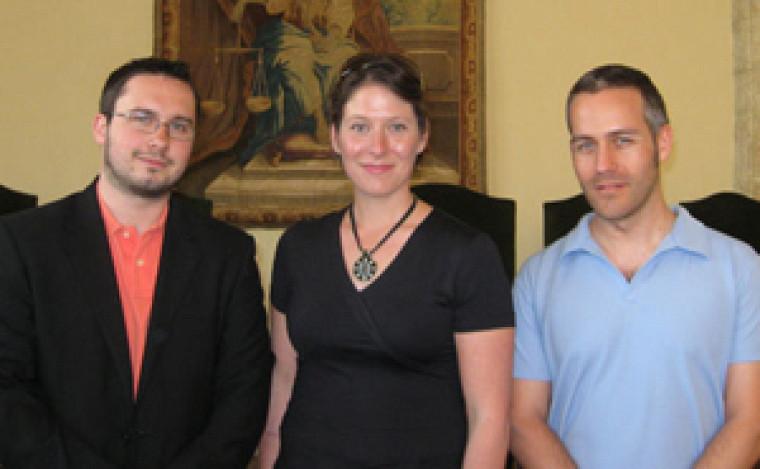 Les participants de Sherbrooke aux 24h du droit de la santé : Jean-Sébastien Sauvé, Brigitte Massé et Éric Folot.