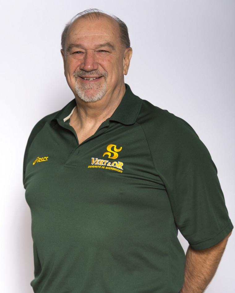 Richard Crevier, entraîneur-chef du Vert & Or en athlétisme.
