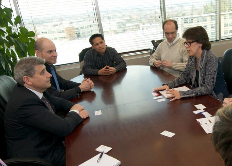 La délégation de l'Université de Lyon a rencontré la rectrice Luce Samoisette.