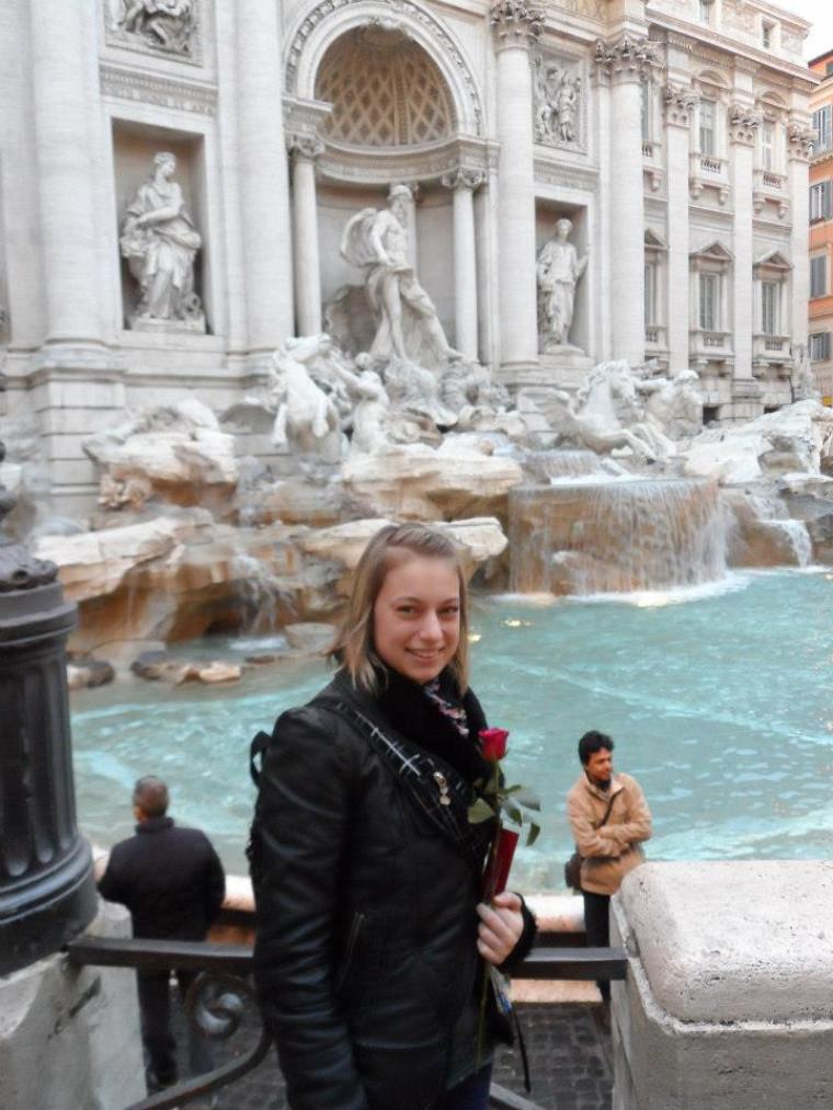 L'étudiante en microbiologie a eu l'occasion de faire plusieurs voyages, notamment à Rome.