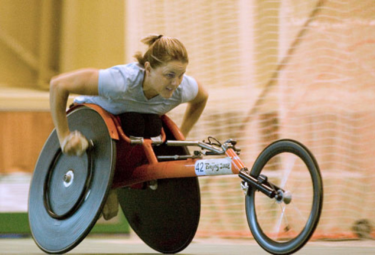 Diane Roy à l'entraînement au Centre sportif.