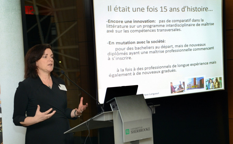 La professeure Marie-José Durand présente une rétrospective des 15 dernières années des Programmes.