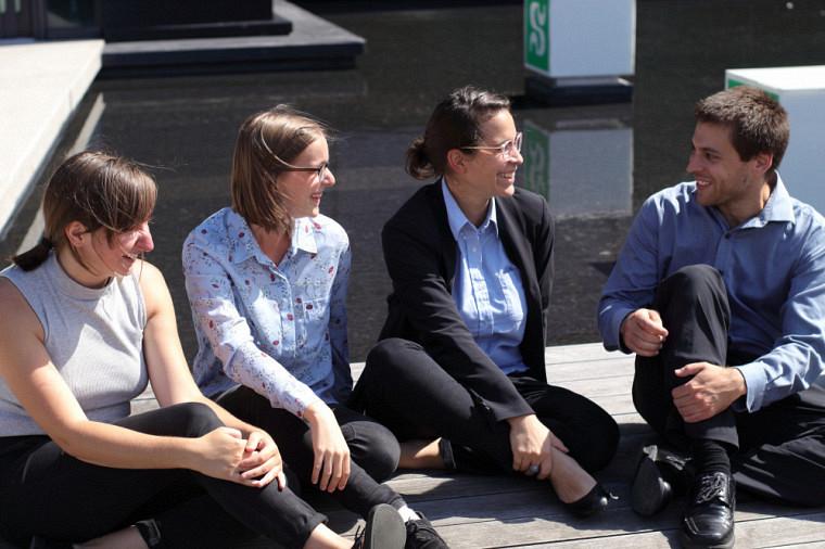 Andréanne Julie-Christine, Gaïa et Nicholas (de gauche à droite).