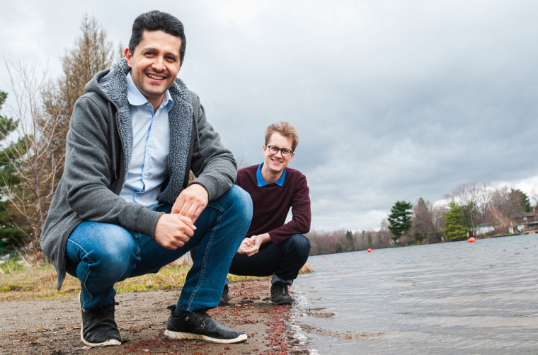 Le professeur Pedro Segura et Emmanuel Eysseric