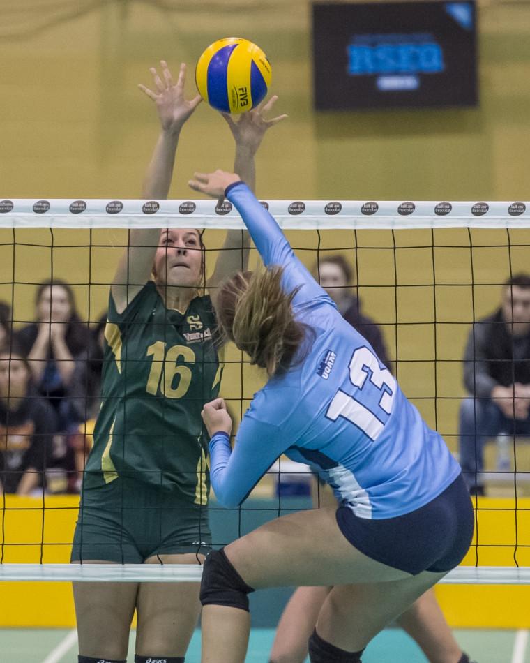 Les Citadins de l'UQAM ont surpris le Vert & Or vendredi soir et l'ont emporté 3-2 pour signer un premier gain à vie contre l'UdeS, en volleyball féminin