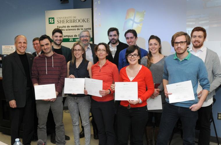 Les finalistes et les lauréats du Concours de vulgarisation scientifique 2015.