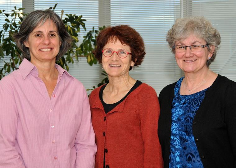 Les professeures Chantal Doré, Line Saintonge et Frances Gallagher