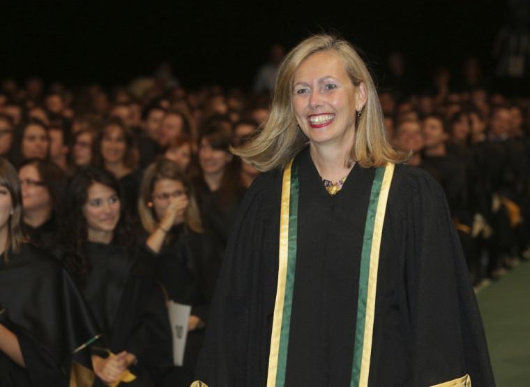 Mme Monique Leroux, présidente et chef de la direction du mouvement des Caisses Desjardins.