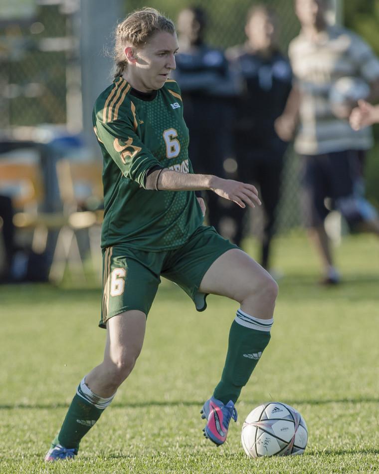 La joueuse de cinquième année du Vert & Or, Marie-Ève Jacques.