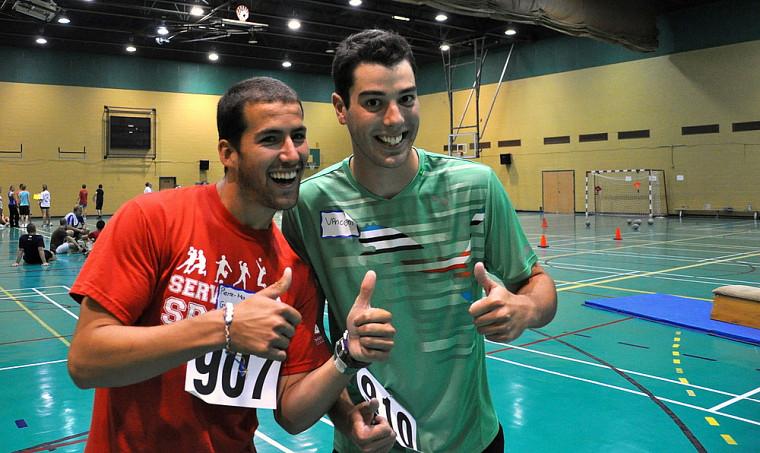 Pierre-Marc Guindon et Vincent Levert· ont fait connaissance lors du test d'aptitude physique.