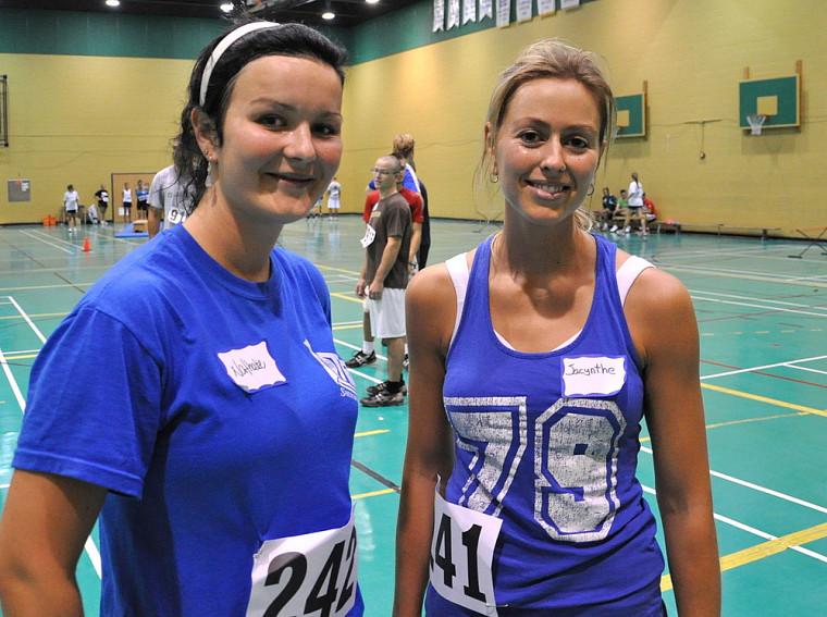 Nathalie Bernier et Jacinthe Bernier ont été évaluées lors du Test d'aptitude physique.
