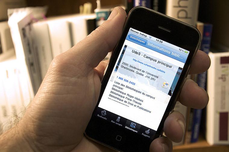 Des applications permettent d'accéder à certains services offerts par les bibliothèques.