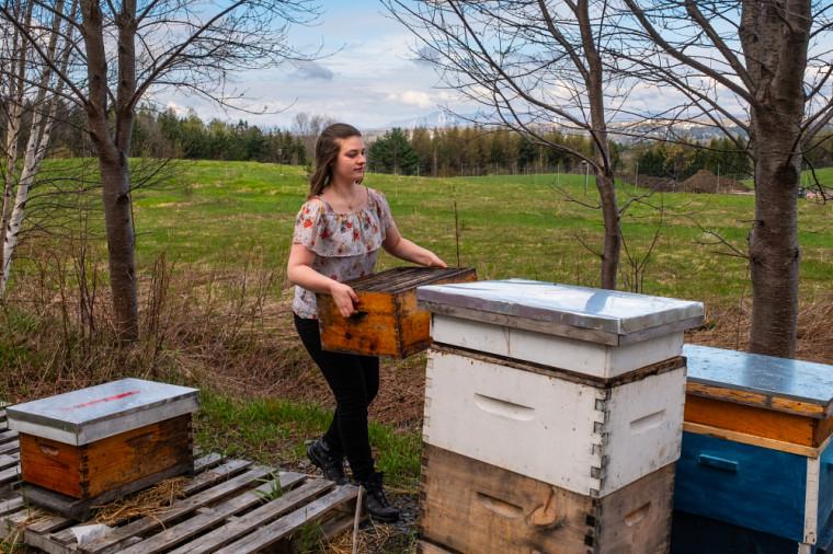 Elizabeth Cazeault est étudiante en écologie. Cette passionnée de l'apiculture ne ménage aucun effort pour assurer le rayonnement et la saine gestion du comité étudiant Ruche Campus, dont elle est à la tête depuis 1 an.