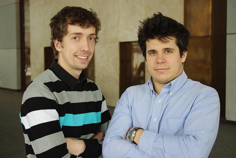 Guillaume Martin et Hugo Fournier, gagnants du 1erprix du concours Topo Cossette 2010
