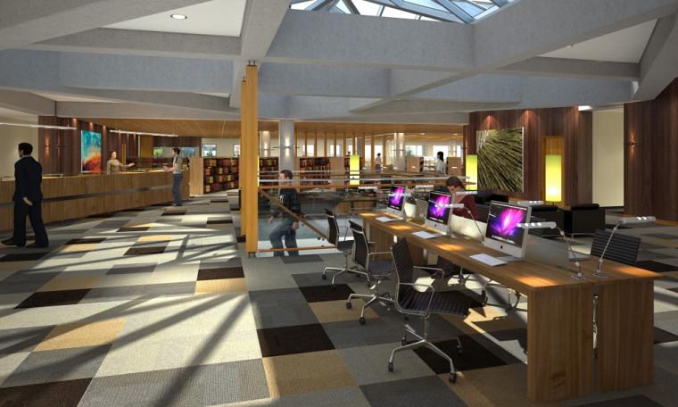Maquette de la future bibliothèque