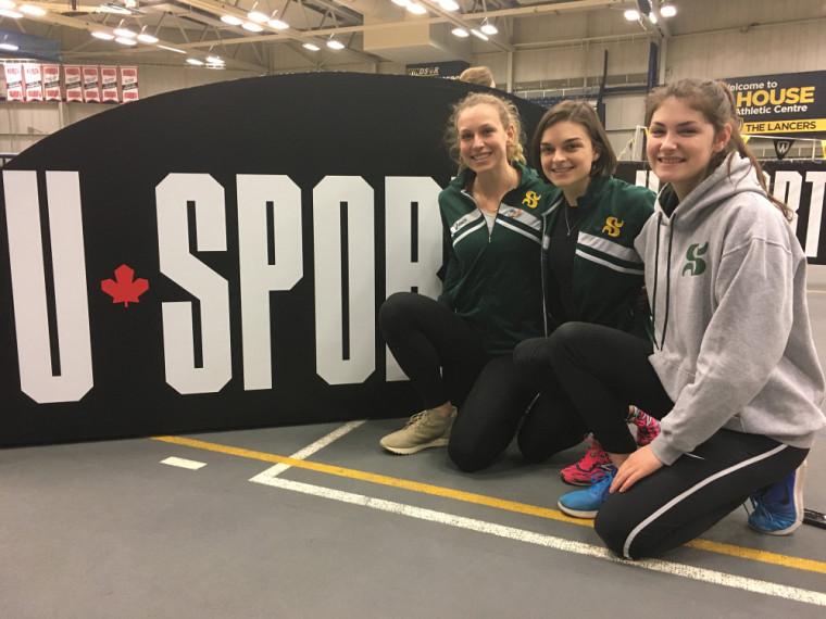 Maïté Bouchard, Camille Bélanger et Maude Croteau-Vaillancourt ont bien hâte de prendre part au brunch des prix majeurs, jeudi avant-midi en prélude au jour 1 des Championnats U Sports d'athlétisme accueillis ce week-end par l'Université de Windsor.