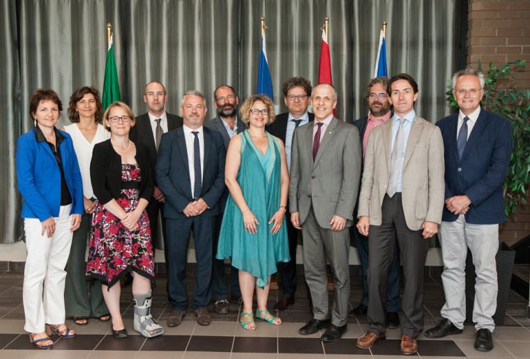 Les représentants de Bordeaux et de l'Université de Sherbrooke