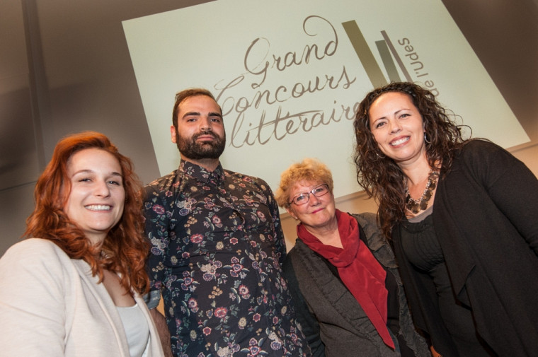 Les récipiendaires des quatre prix du Grand Concours littéraire de l'Université de Sherbrooke sont Roxanne Landry (Prix du Centre Anne-Hébert), Kayan Naghshi (Prix Joseph-Bonenfant), Suzanne Pouliot (Prix pour le personnel) et Isabelle Huard (Grand Prix littéraire).