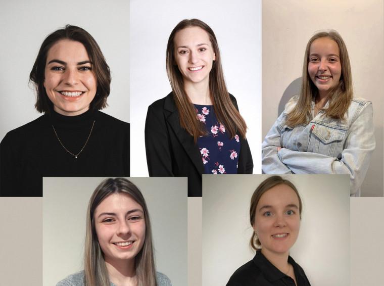 Alexane Brunelle, Alexia Lévesque, Gabrielle Pomerleau, Marie-Eve Castonguay etSimone Bourque, toutes de Faculté de génie.