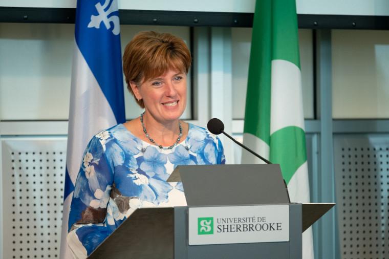 La ministre de l'Agriculture et de l'Agroalimentaire et députée de Compton-Stanstead, Marie-Claude Bibeau.