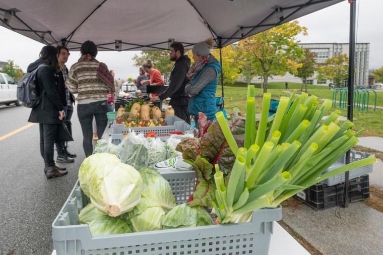 L'UdeS tenait son premier marché public cet automne pour tester l'intérêt de la communauté universitaire.