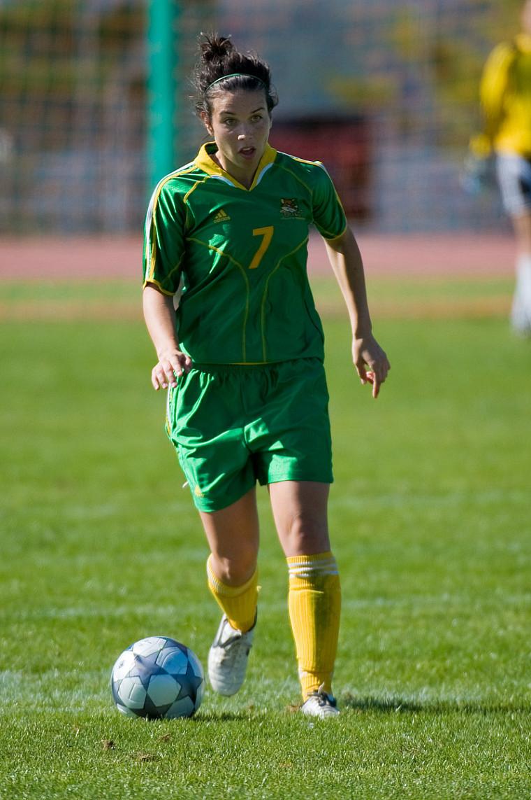 L'attaquante du Vert & Or Andréanne Gagné a aidé le Canada à soutirer une victoire de 3-0 face à la Pologne.