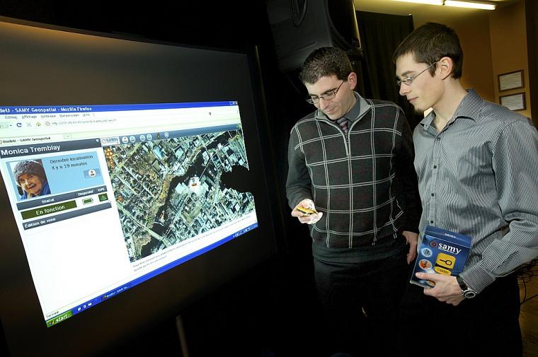 Guillaume Marion et Raphaël Royer-Rivard, de BsideU, commercialisent un système de localisation des personnes vulnérables appelé SAMY Geospatial.