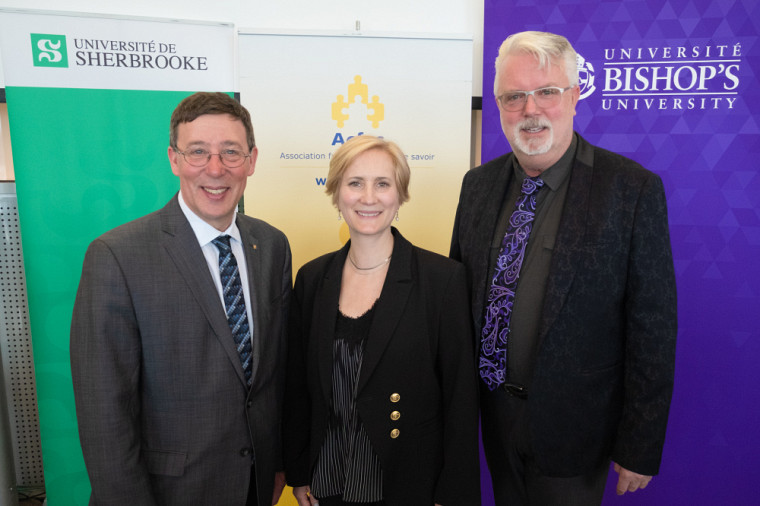 L'Université de Sherbrooke est fière d'annoncer qu'elle accueillera, conjointement avec l'Université Bishop's, le 88eCongrès de l'Acfas du 4 au 8mai2020.