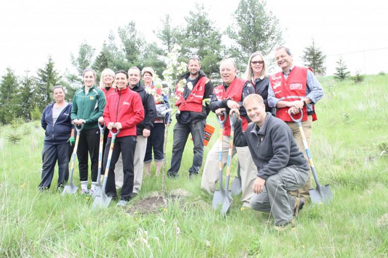 Les premiers arbres de la Forêt Nez rouge ont été plantés en mai dernier.