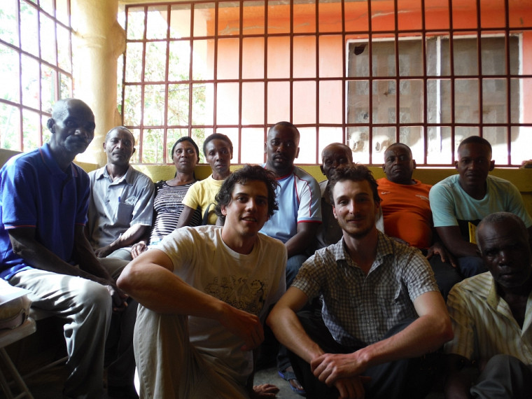 Des membres de l'équipe du GCIUS, lors de la mission d'exploration en Haïti.