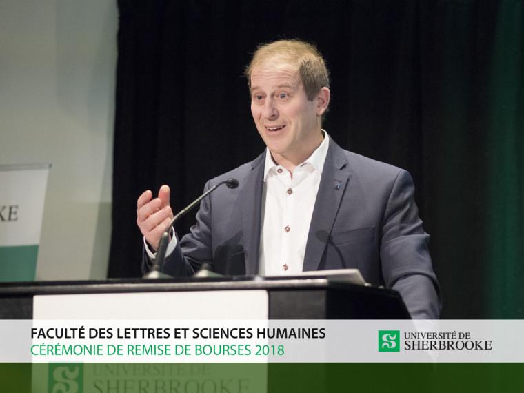 Maître François Sylvestre, secrétaire du conseil d'administration de La Fondation de l'UdeS