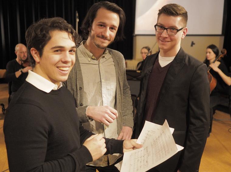 Maxime Fortin, Robin Girard et Samuel DesrosiersFinissants au baccalauréat en composition et musique à l'image