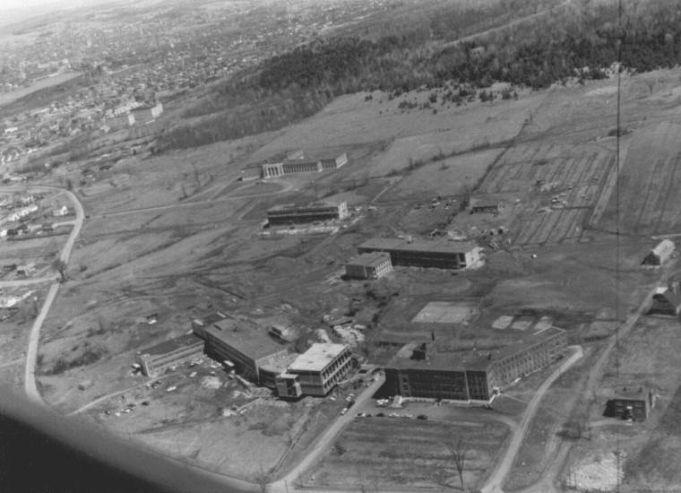 Campus de l'Université en 1960