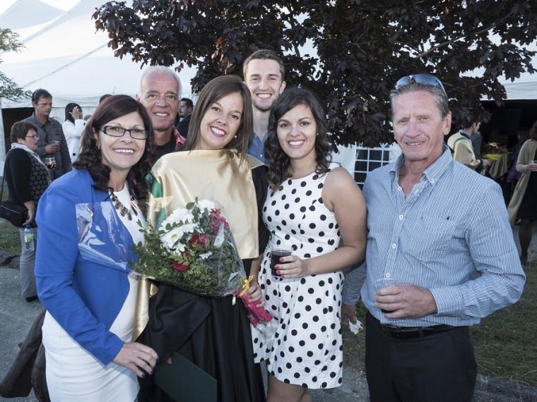 Bianca Audet a vécu cette journée mémorable avec sa famille.