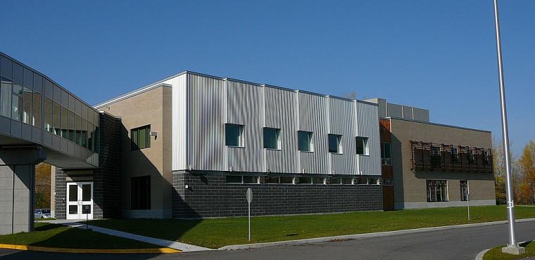 Le Pavillon de la médecine et des sciences de la santé de l'Université du Québec à Chicoutimi