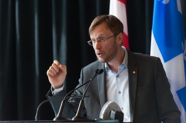 Le professeur en politique appliquée David Morin.
