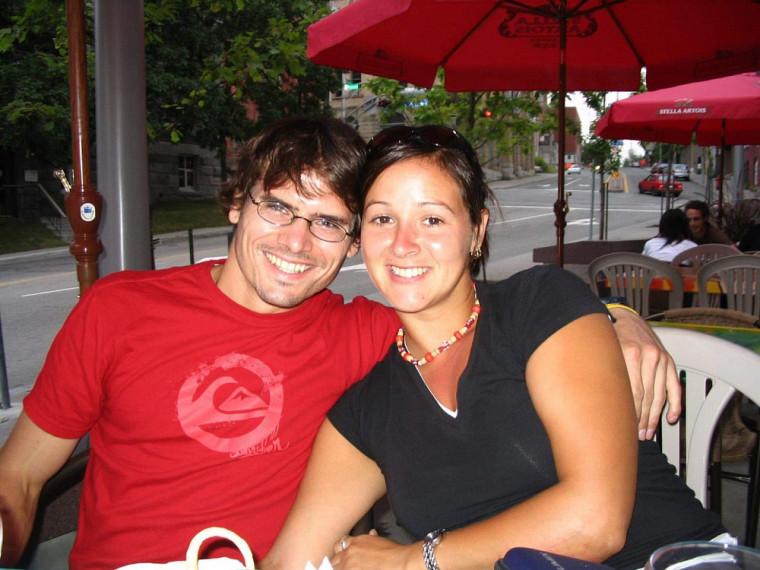 Geneviève et son conjoint au début de leur relation.