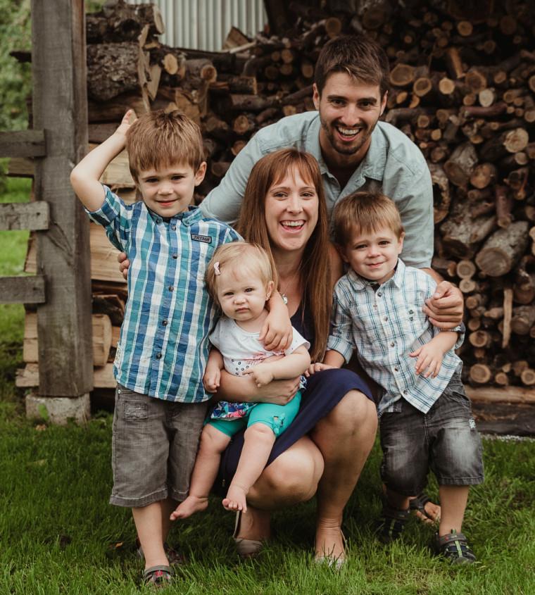 Myriam Dion et sa famille.