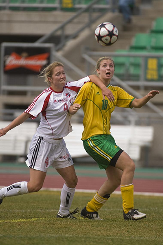 Chloé Belhumeur-Limoges a obtenu plus de six occasions de marquer, dimanche face aux Stingers de Concordia.